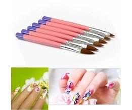 Nail Art Brush Set 6Items