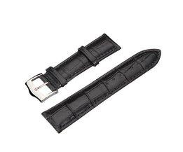 Qualitäts-Schwarz-PU-Leder-Uhrenarmband