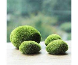 Garten-Dekoration Moss Stein