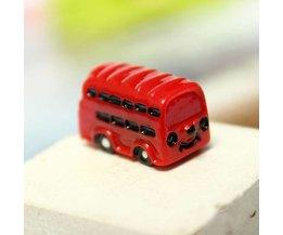Red Bus Mini Micro Landschaft Dekoration