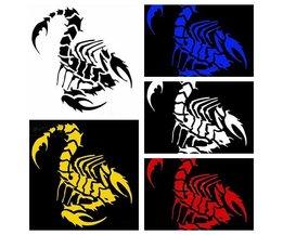 Scorpion-Auto-Aufkleber In Mehreren Farben