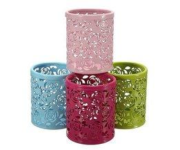 Feder-Behälter Mit Blumen-Design