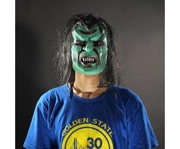 Monster Maske In Farbe Grün Oder Blau