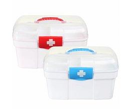 Blank Erste-Hilfe-Kasten Mit Zwei Schichten