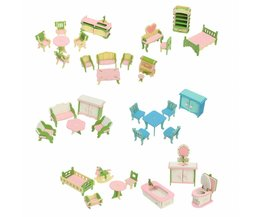 Kit Dollhouse Miniatures Holz