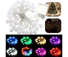 4M LED-String Mit Kugeln In Verschiedenen Farben