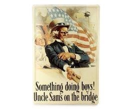 Vintage Metallplatte Mit Uncle Sam