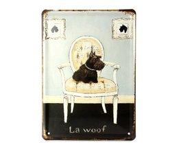 Platte Mit Dog Design
