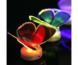 Farbe LED-Lampen-Schmetterlings-Form