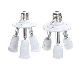 E27 E14 Lampe 3-Wege-Splitter
