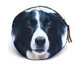 Runde Handtasche Mit Hund