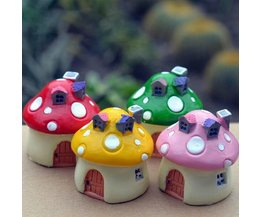 Miniatur-Puppenhaus Pilz Häuser