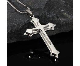 Kreuz Halskette Edelstahl