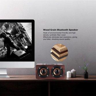 ADDKEY Desktop hoparlor Retro Holz Bluetooth Lautsprecher portatil Sound Daul lautsprecher Boombox Stereo Lautsprecher für Notebook