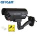 Cdycam 1 Stück Kamera-Attrappen  Wasserdichte Außen und Innen  Sicherheitsüberwachungskamera Mit Blinkender roter LED Simulation Kamera