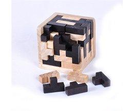 Kinder 3D DIY Holz Puzzle Spielzeug Kinder Luban Verriegelung Intelligenz IQ Gehirn Teaser Cube Spielzeug Baby Holz Jigsaw Passende Spielzeug