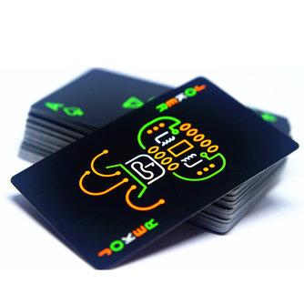 Schwarz Leuchtende Fluoreszierende Poker Karten Spielkarte Im Dunkeln leuchten Bar Partei KTV Nacht Leuchtende Sammlung Spezielle Poker