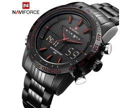 LuxusNAVIFORCE Männer Mode Sport Uhren herren Quarz Digital Analog Uhr Mann Voller Stahl Armbanduhr relogio masculino