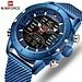 NAVIFORCE Männer Uhr Top LuxusMann Military Sport Quarz Handgelenk Uhren Edelstahl LED Digital Uhr Relogio Masculino