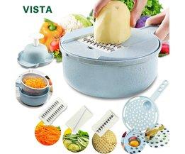 Mandoline Slicer Gemüse Slicer Kartoffel Schäler Karotte Zwiebel Reibe mit Sieb Gemüse Cutter 8 in 1 Küche Zubehör