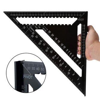 7/12 zoll Aluminium Legierung Metric Triangle Winkel Lineal Quadrate für Holzbearbeitung Geschwindigkeit Platz Winkel Winkelmesser Mess Werkzeuge Herrscher