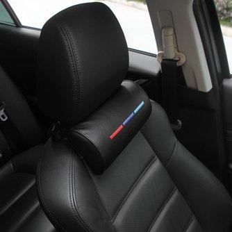 Auto Styling Sitz Hals Kissen Schutz PU Auto Kopfstütze Unterstützung Rest Reisen Auto Kopfstütze Hals für BMW /// M Zubehör
