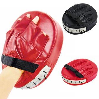 Schwarz Red Boxing Handschuhe Pads für Muay Thai Kick Boxing MMA Training PU schaum boxer ziel Pad