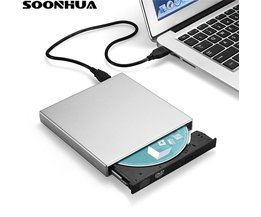 SOONHUA USB 2.0 Tragbare Ultra Slim Externe Slot-in DVD-RW CD-RW CD DVD ROM Player Stick Schriftsteller Rewriter Brenner für PC