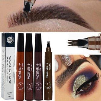 Microblading Augenbrauen Stift Wasserdichte Gabel Spitze Augenbraue Tattoo Bleistift Langlebige Feine Skizze Flüssigkeit Auge Stirn Bleistift