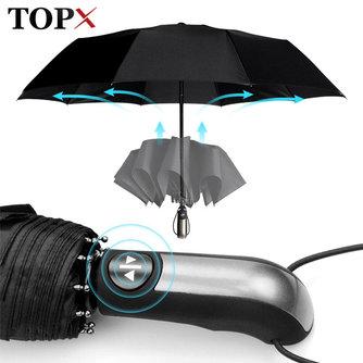 Wind Beständig Voll-Automatische Regenschirm Regen Frauen Für Männer 3FoldingSonnenschirm Compact Große Reise Business Auto 10K Regenschirm