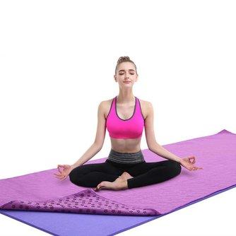 Nicht Slip Baumwolle Yoga Matte Teppich Pflaume Gepunktete Harz Handtuch Decke Schweiß Absorbieren Handtuch für Sport Fitness Übung Pilates Lieferungen