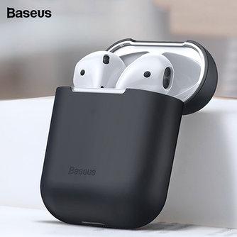 Baseus Silikon Kopfhörer Fall Für Airpods Fall Für Air schoten Fall Abdeckung Ultra Dünne Für Apple Airpods 1 2 Protector coque Funda