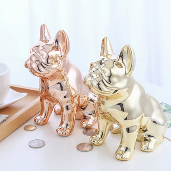 Keramik handwerk spiegel cartoon welpen sparschwein zugang piggy piggy bank desktop dekoration