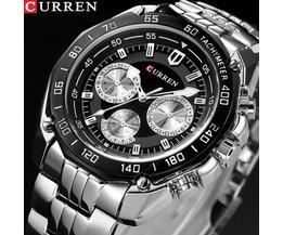 Mode Curren LuxusMann quarz voller edelstahl Uhr Casual Militär Sport Männer Kleid Armbanduhr GentlemanNeue