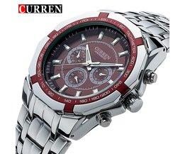 TopLuxus Uhr CURREN Lässig Militär Quarz Sport Armbanduhr Voller Stahl Wasserdicht männer Uhr Relogio Masculino