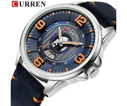 Herren Uhren TopCURREN Leder Armbanduhr Analog Army Military Quarz Zeit Mann Wasserdichte Uhr Mode Uhren Hombre