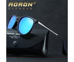 AORON Mode Sonnenbrillen Frauen Männer Polarisierte Sonnenbrille Klassische Runde Spiegel UV400 Sonnenbrille Brillen