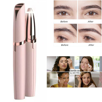 1pc Elektrische Augenbraue Trimmer Make-Up Schmerzlos Augenbraue Epilierer Für Frauen Mini Rasierer Rasierer Tragbare Gesichts Haar Remover Weibliche