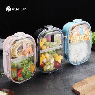 WORTHBUY Japanischen Tragbare Lunch Box Für Kinder Schule 304 Edelstahl Bento Box Küche dicht Lebensmittel Behälter Lebensmittel box