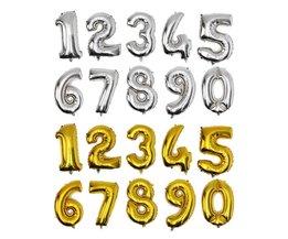 Anzahl Ballon In Gold Oder Silber