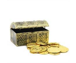 Piraten-Schatztruhe Mit Münzen