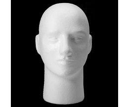Styropor-Kopf Male Model