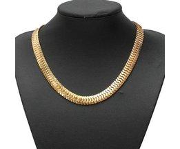 Große Schlangenkette Aus Gold Oder Silber