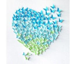 Schmetterlings-Aufkleber Für Die Wand (12 Stück)