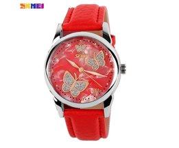 Schmetterlings-Uhr Mit PU-Lederband SKMEI 9079