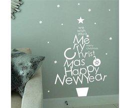 Wand-Aufkleber-Text Frohe Weihnachten Glückliches Neues Jahr