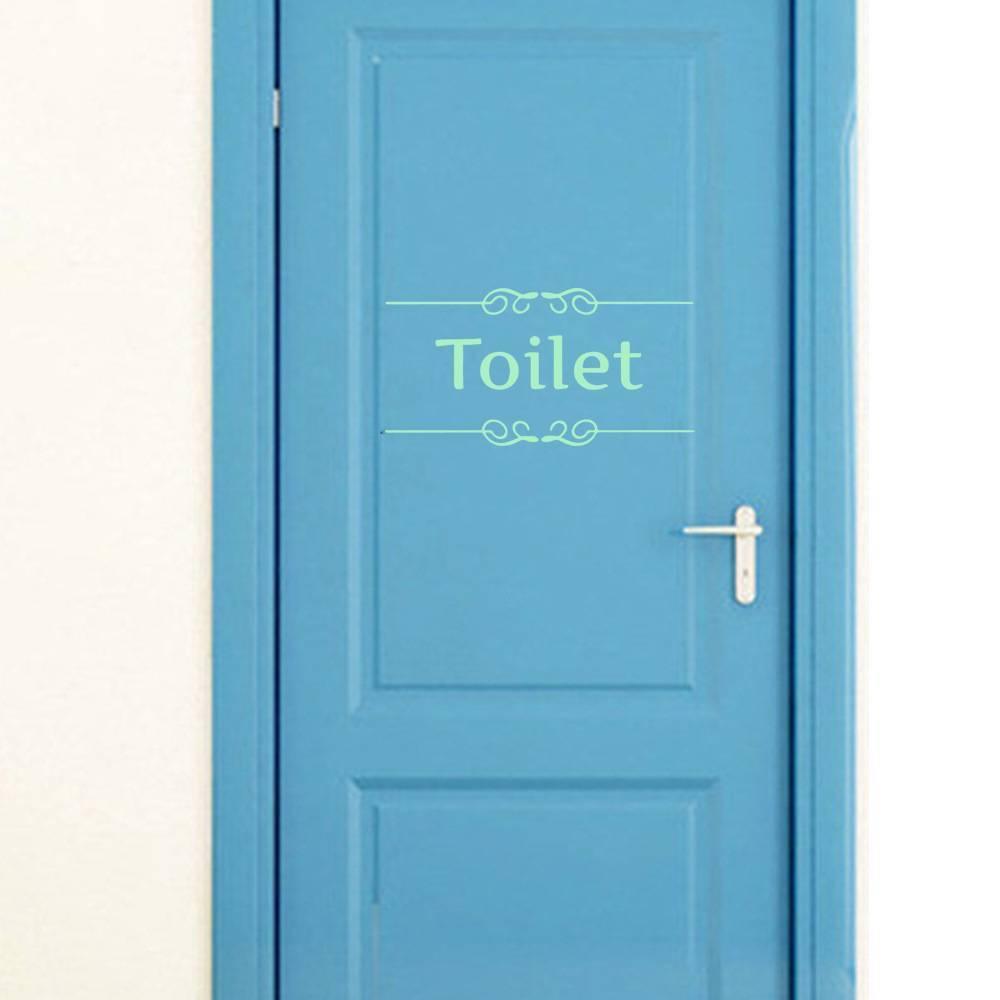 Luminous Tür-Aufkleber Für Badezimmer