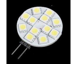 G4 LED-Birnen-12V-Regal Mit 12 SMD LEDs 5050 Pure White