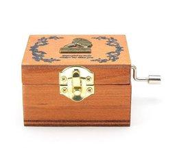 Antique Music Box Of Wood