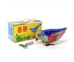 Bunt Vintage Opwindvogel Zinn